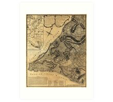 A Plan of the City of New York Map (1766) Art Print