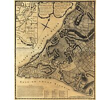 A Plan of the City of New York Map (1766) Photographic Print