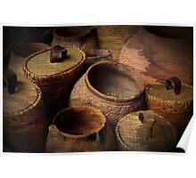 Prehistoric pottery Poster