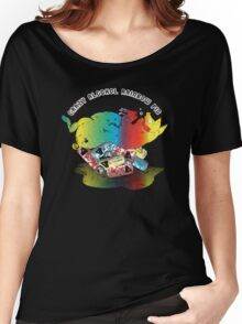 Crazy Alcohol Rainbow Pig Women's Relaxed Fit T-Shirt