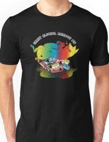 Crazy Alcohol Rainbow Pig Unisex T-Shirt
