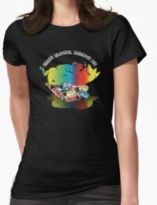Crazy Alcohol Rainbow Pig Womens Fitted T-Shirt