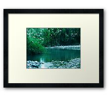 Tiny Lake Framed Print