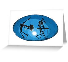 Cool music DJ band - Guitar Synthesizer player Greeting Card