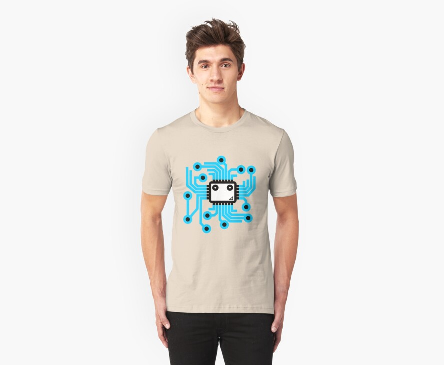 Computer chip by MuddyDesigns
