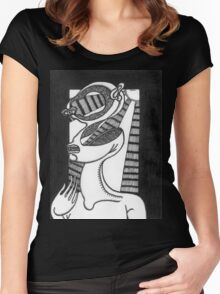 abstract figure Women's Fitted Scoop T-Shirt