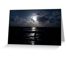 blue sunset mumbai beach Greeting Card