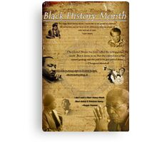 Black History Month Poster (2011) Canvas Print