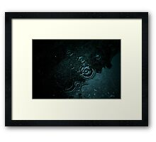 Dark water Framed Print