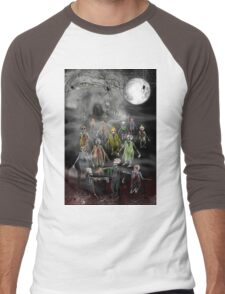 13 Zombies are here to Entertain You! Men's Baseball ¾ T-Shirt