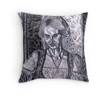 Serving Wench, The Original Barista Throw Pillow