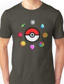 Pokemon Badges, first Generation Unisex T-Shirt