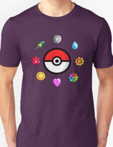 Pokemon Badges, first Generation Unisex T-Shirt