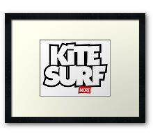 Kite Surf More Framed Print
