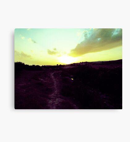 Walking Toward The Sun Canvas Print