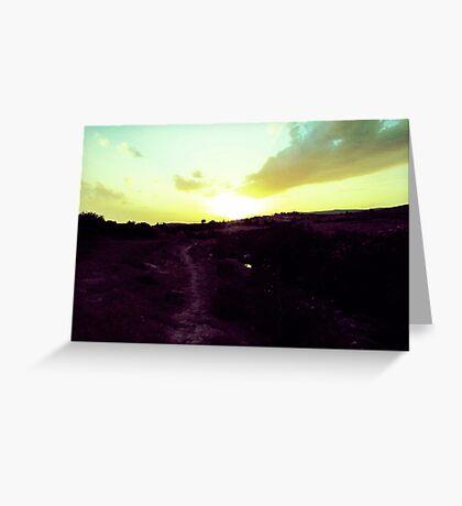 Walking Toward The Sun Greeting Card