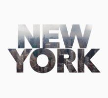 """New York"" Cityscape One Piece - Short Sleeve"