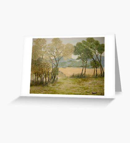 Golden Meadows Greeting Card