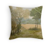 Golden Meadows Throw Pillow