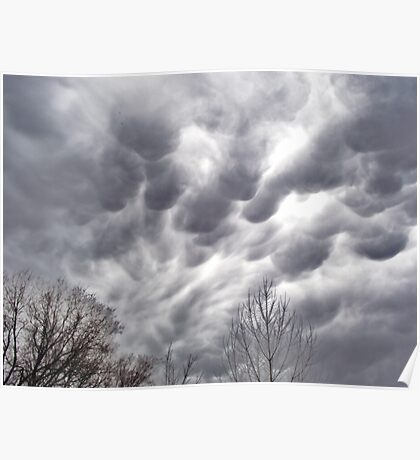 Morning Storm Clouds Poster