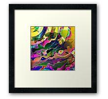 Space Rainbows Surreal Design Framed Print