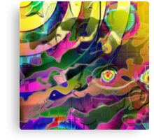 Space Rainbows Surreal Design Canvas Print