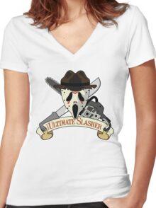 The Ultimate Slasher Villian Women's Fitted V-Neck T-Shirt