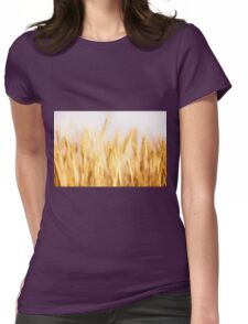 Golden cereal ears grow  Womens Fitted T-Shirt