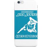 Brazilian Jiu Jitsu Knee On Belly Blue iPhone Case/Skin
