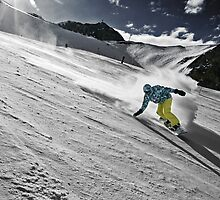 Snowboarding on Alpine slopes by Maxim Mayorov