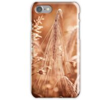 Golden old withered cereal ear  iPhone Case/Skin