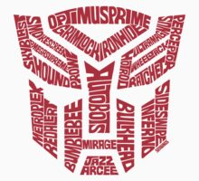 Transformers Autobots Red Kids Tee