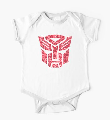 Transformers Autobots Red One Piece - Short Sleeve
