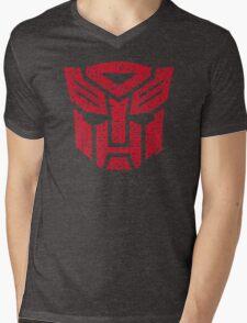 Transformers Autobots Red Mens V-Neck T-Shirt