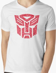 Transformers Autobots Red Mens V-Neck T-Shirt