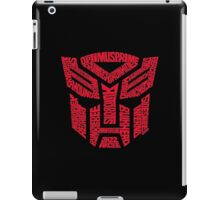 Transformers Autobots Red iPad Case/Skin