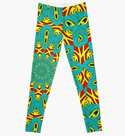 Turquoise and Red are in my Head Leggings