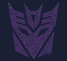 Transformers Decepticons Purple One Piece - Short Sleeve