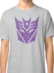 Transformers Decepticons Purple Classic T-Shirt