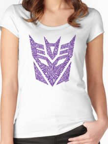 Transformers Decepticons Purple Women's Fitted Scoop T-Shirt