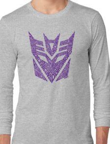 Transformers Decepticons Purple Long Sleeve T-Shirt