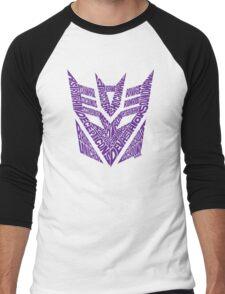 Transformers Decepticons Purple Men's Baseball ¾ T-Shirt