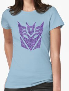 Transformers Decepticons Purple Womens Fitted T-Shirt