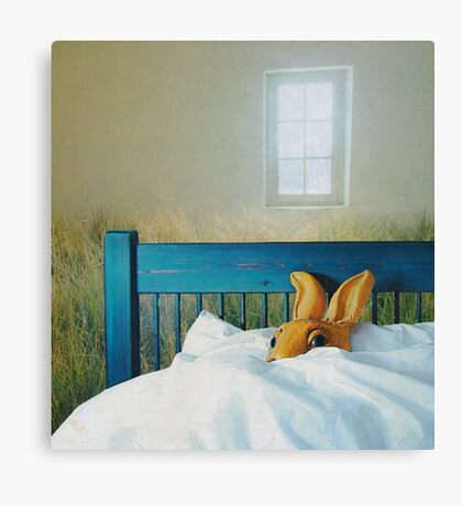 bunny in bed Canvas Print