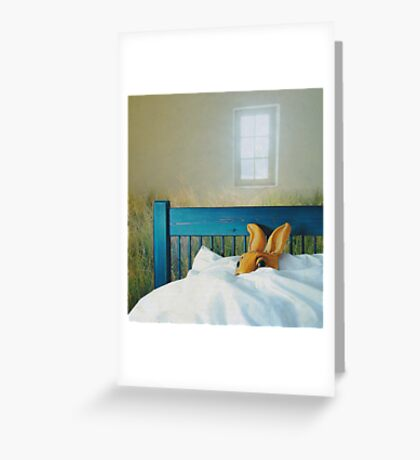 bunny in bed Greeting Card