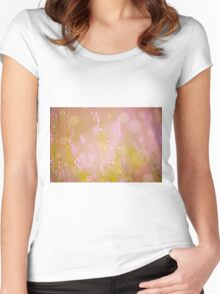 Subtle pink heather macro Women's Fitted Scoop T-Shirt
