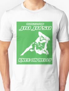 Brazilian Jiu Jitsu Knee On Belly Green  Unisex T-Shirt