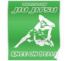 Brazilian Jiu Jitsu Knee On Belly Green  Poster