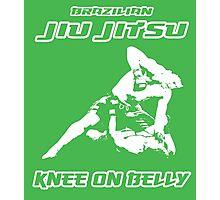 Brazilian Jiu Jitsu Knee On Belly Green  Photographic Print