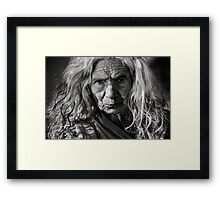 Woman portrait  Framed Print